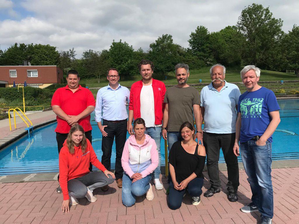 Der Vorstand mit Volker Senftleben - 25.05.2019